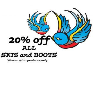 Big doings! This seasons Skis and Boots all 20% off and it's still February! Still a lot of great products in stock. #Sale #Skis #Boots #Fattys #Skiingisfun
