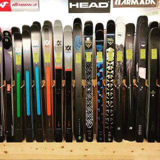 Sneak peak at this years men's and women's wall- Just beautiful!!! #skis #foreveryone #fattys #comeseeus