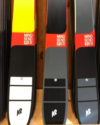 New from @k2.skis this season, the #MindBender series. Come check them out this weekend at Fattys! #90 #99 #108 #k2mindbender